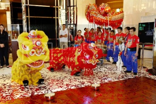 Marriott Manila Ceremonial Lion and Dragon Dance Chinese New Year