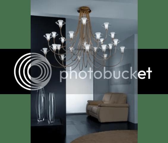 Tesco Metal Lux Free Spirit Twenty-Four Light Chandelier
