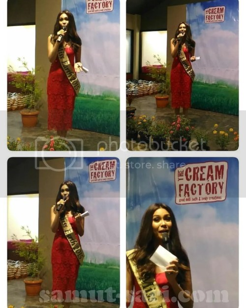 The Cream Factory Brand Ambassador Miss Earth 2015 Angelia Ong