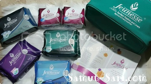 Jeunesse Anion sanitary napkin and liner