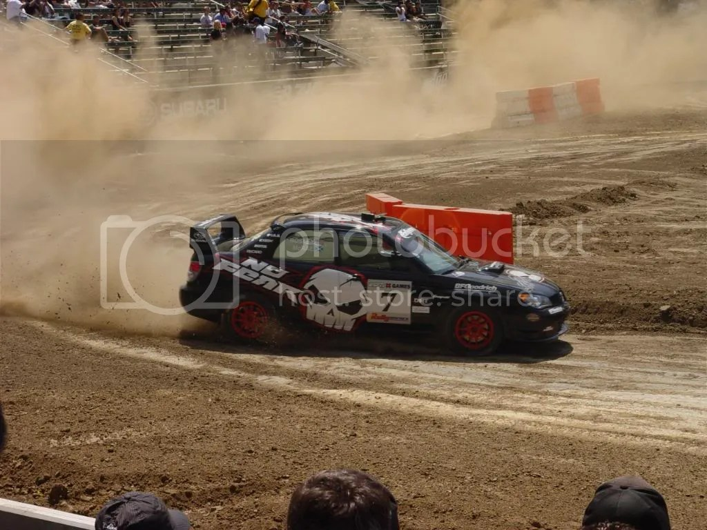 1995 FIA World Rally Driver's Champion (thanks to a Subaru Impreza), Colin McRae, at the beginning of what would be his last run of the day