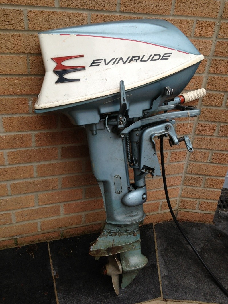 Evinrude Sportwin 10hp Outboard Engine With Tank Boat