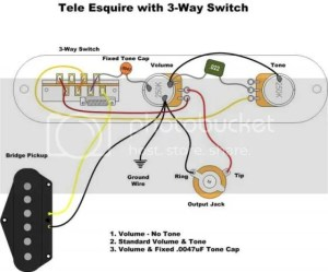 Eldred wiring with greasebucketbass cut | Telecaster