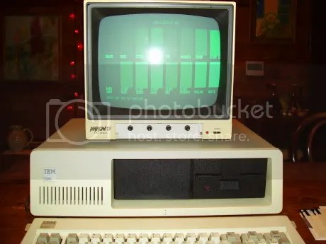 IBM 5150 with video monitor