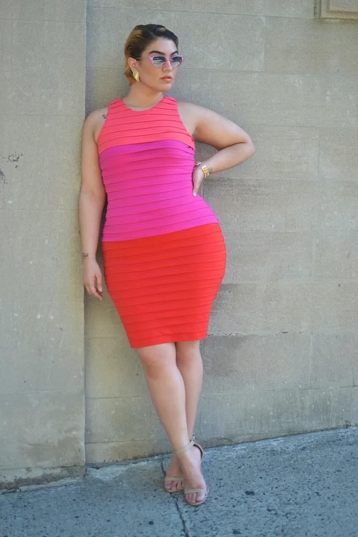 Mature with ass in short dress