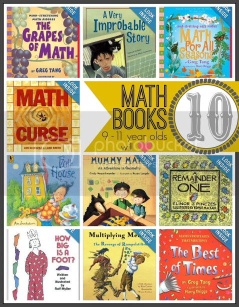 math books your 9-11 year old will love