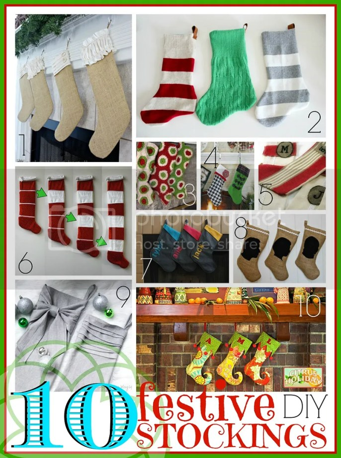 Want to try your hand at an easy Christmas craft? Stockings are a fun and easy project with lots of variety. Try to create on of these 10 festive stockings to DIY via @tipsaholic #stockings #diy #christmas