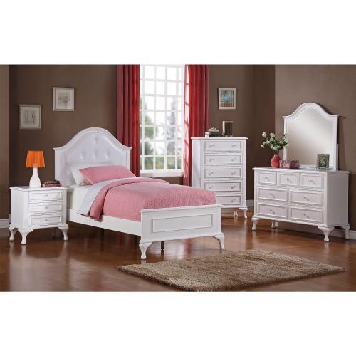 5 piece jesse twin panel bedroom set