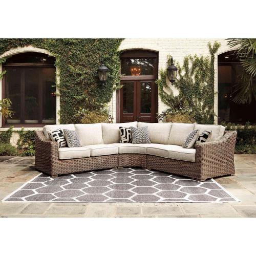 3 piece beachcroft patio sectional