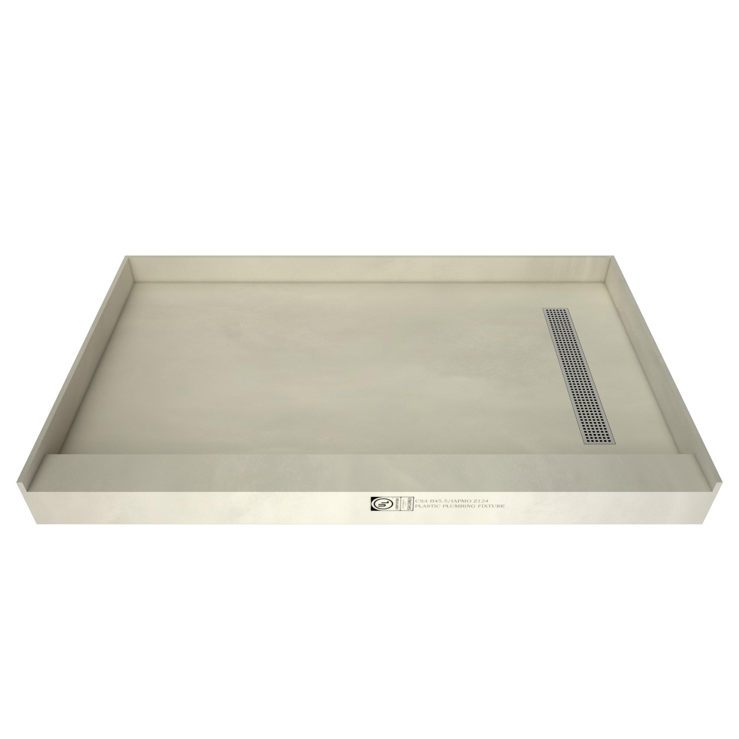 tile redi single curb shower pan with