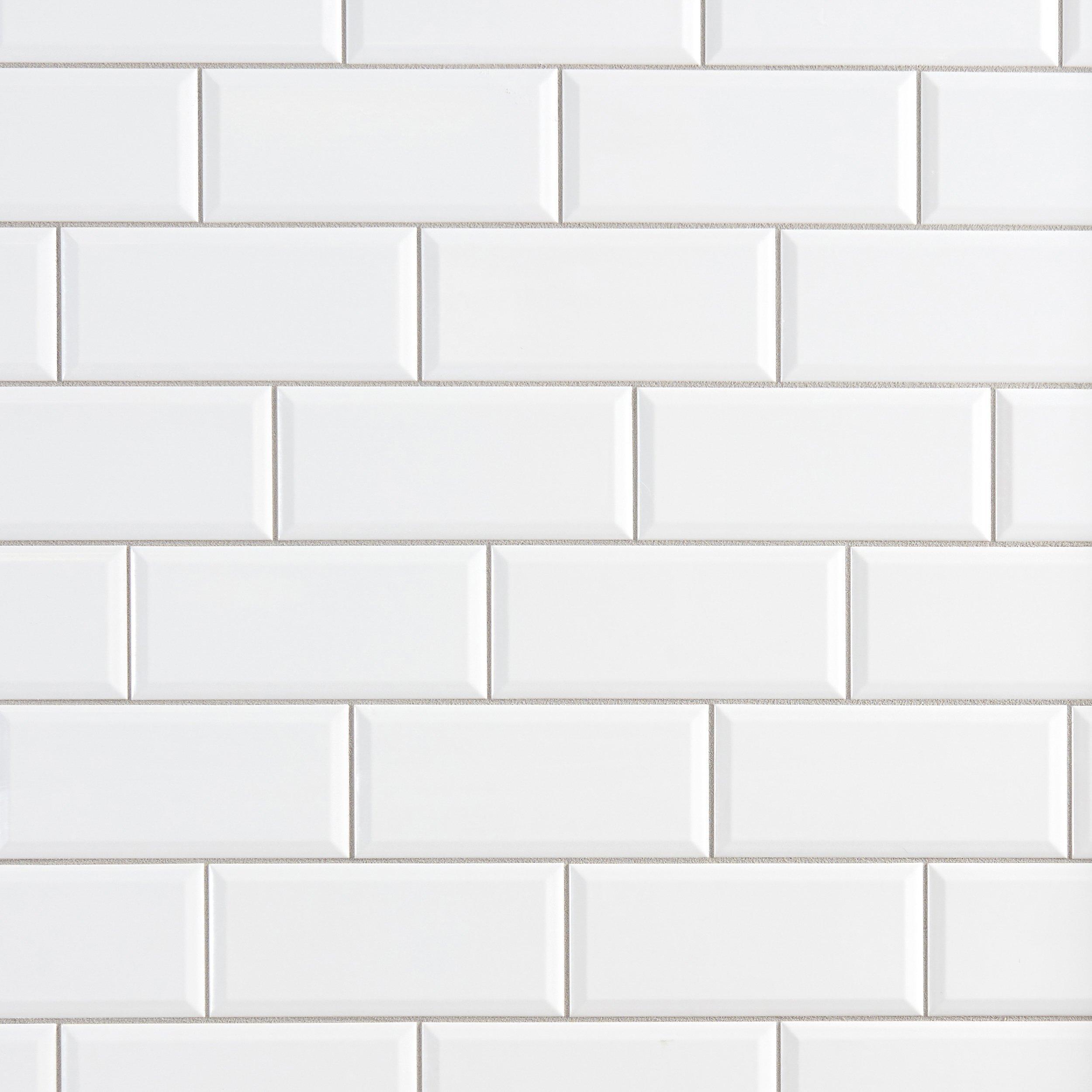 bright white ice subway ceramic wall