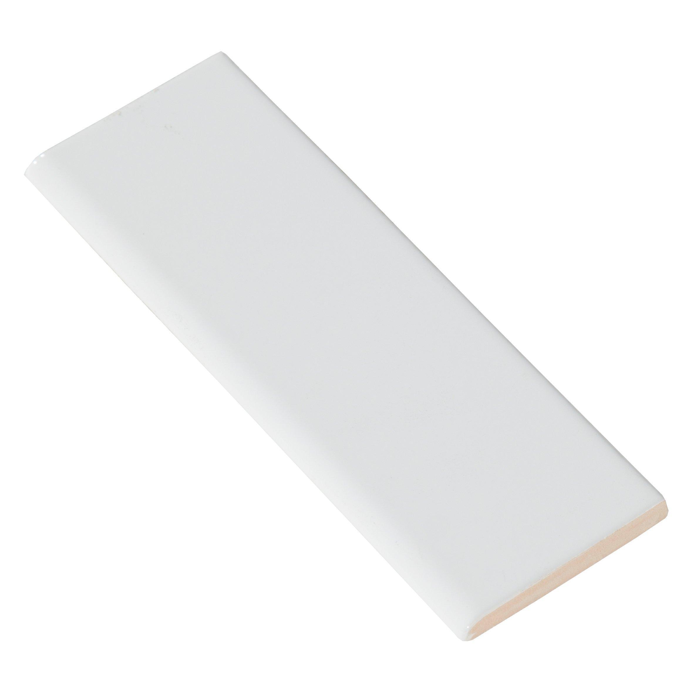 bright white ice ceramic bullnose