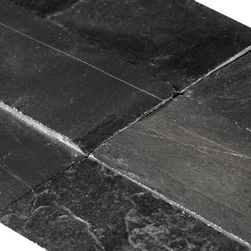 black natural slate tile 3 x 9