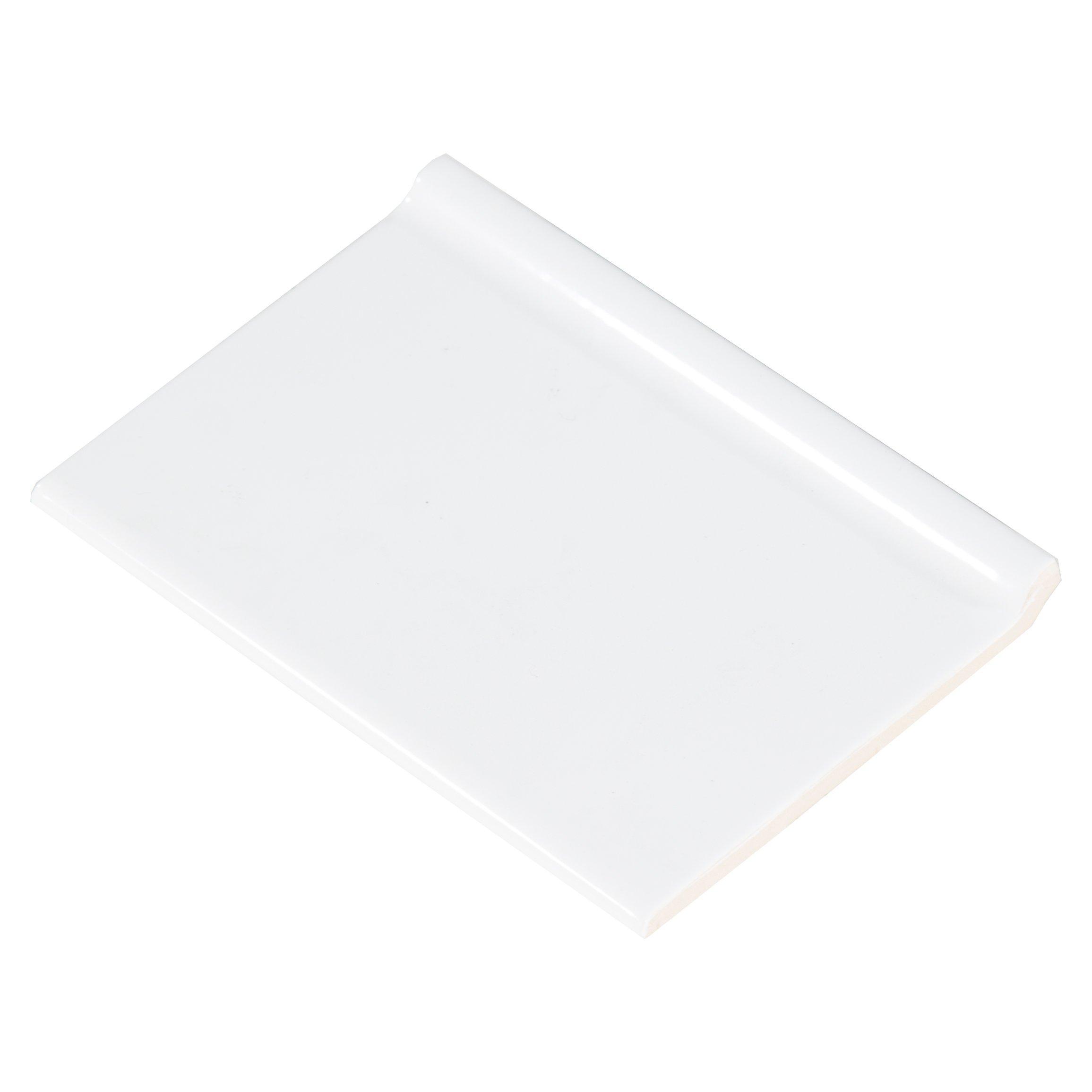 bright white ice ceramic cove base