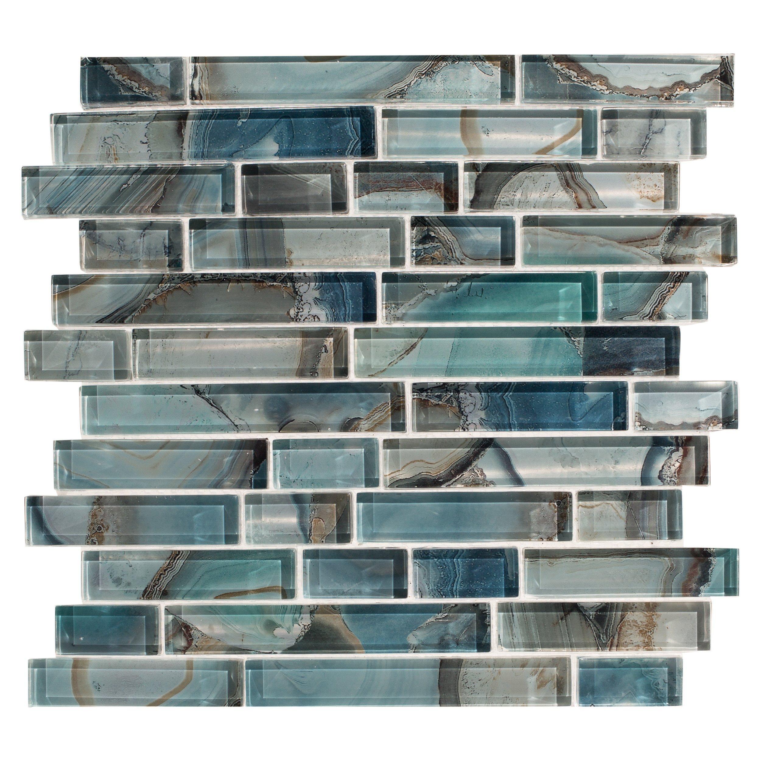 opal lustre glass tile 3 x 12