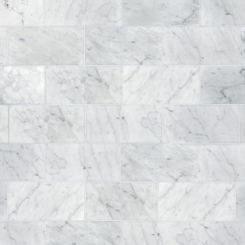 bianco carrara honed marble tile 6 x