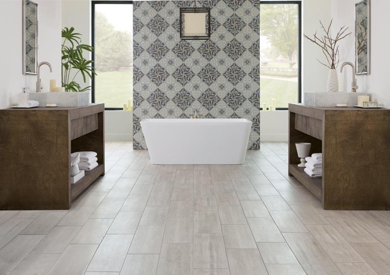carolina ash wood plank porcelain tile
