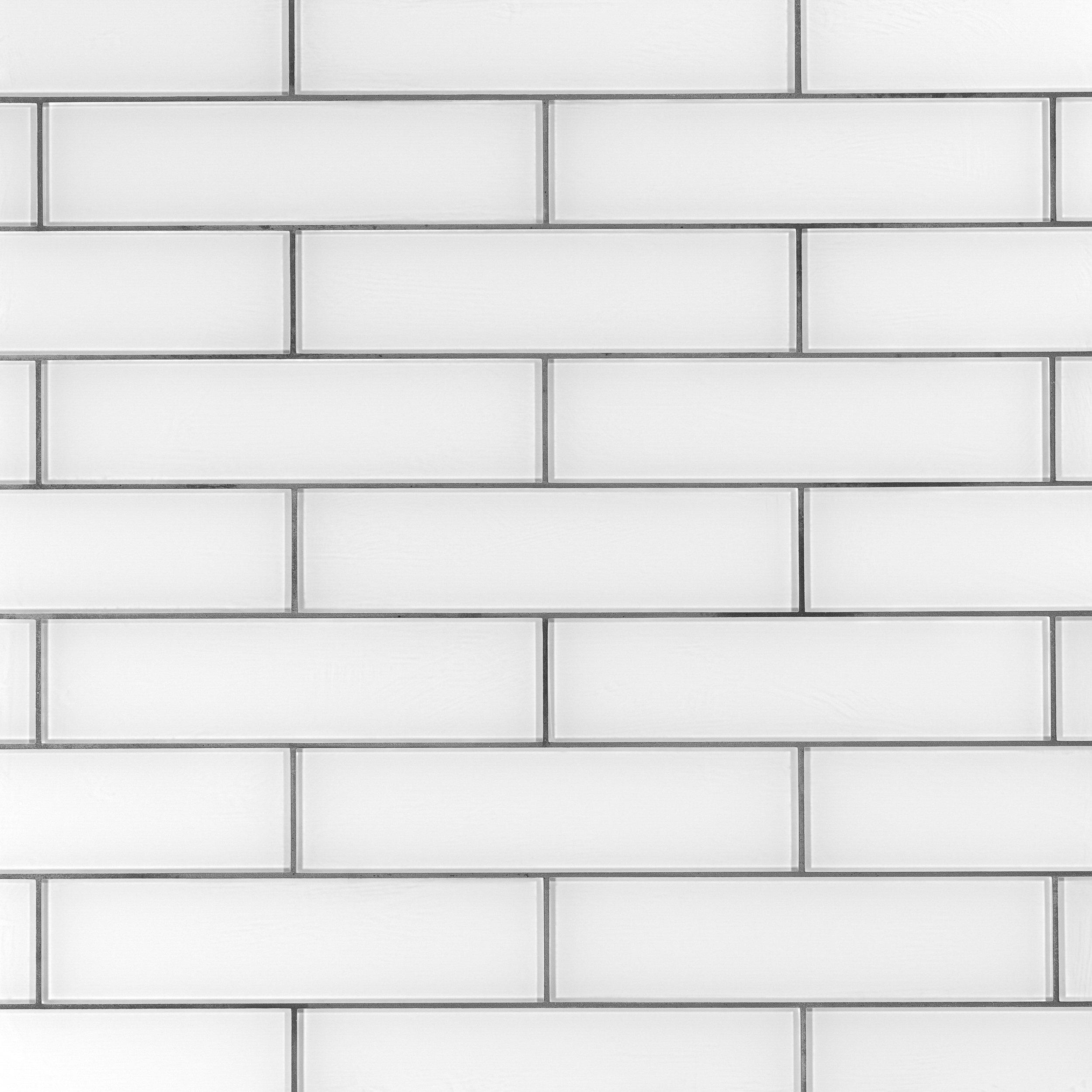 crystal white ice glass tile 4 x 12