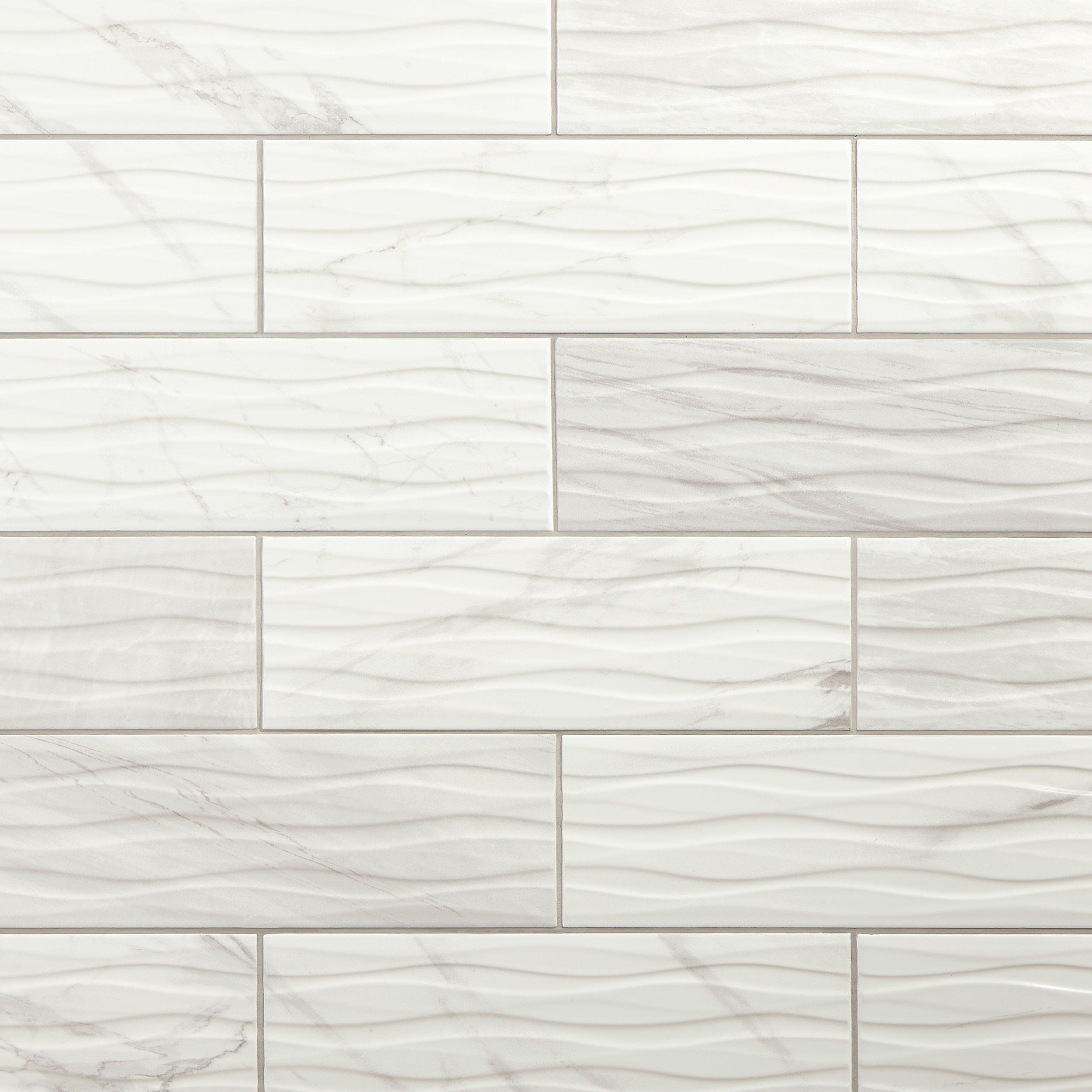idole tear white ceramic tile 12 x 24