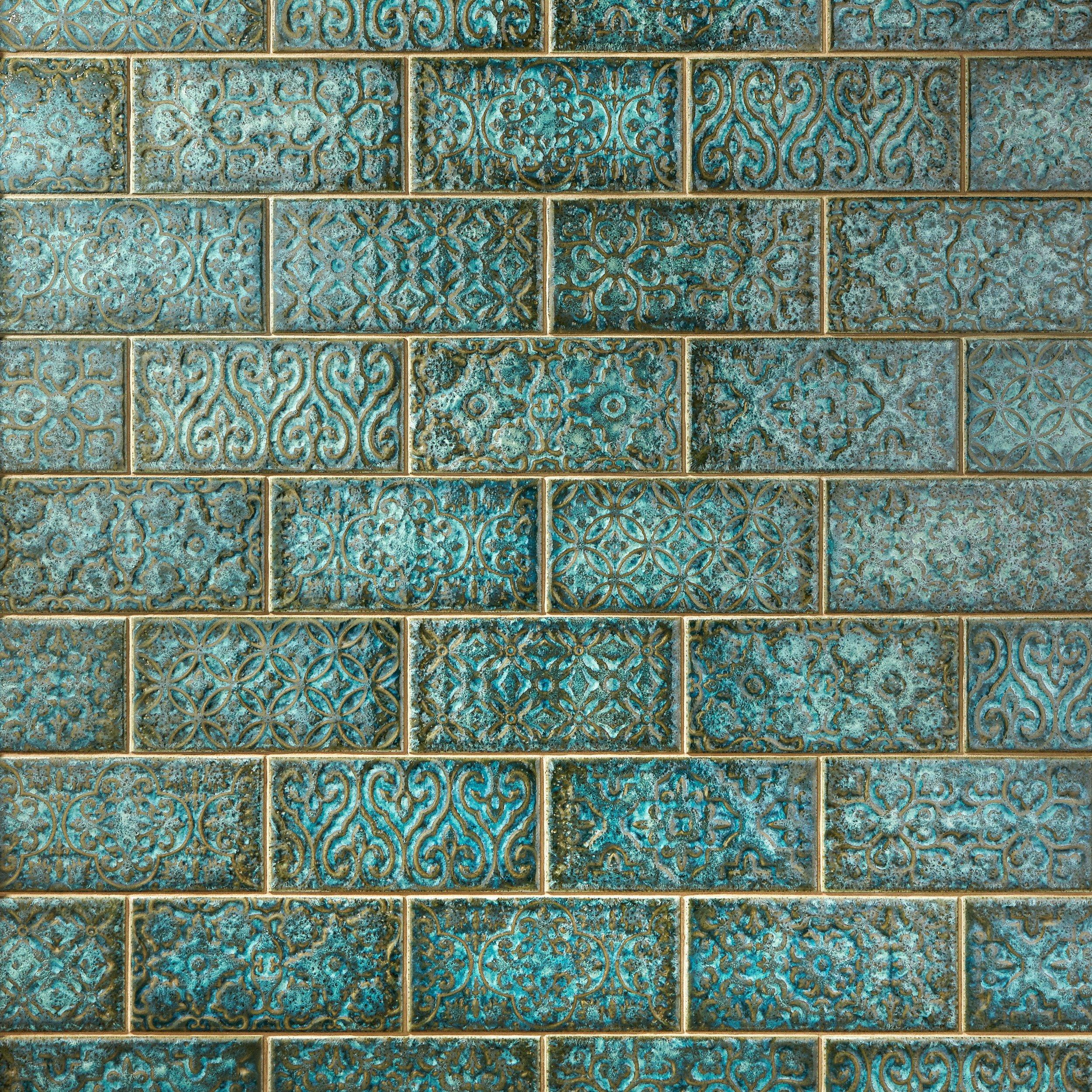 vintage verde ceramic tile 8 x 20