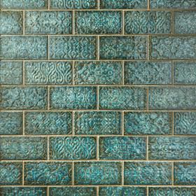 blue and green floor decor