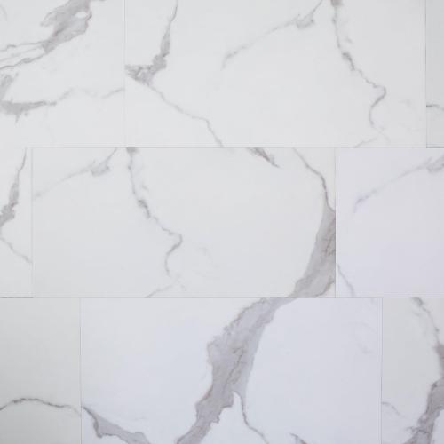 carrara marble rigid core luxury vinyl