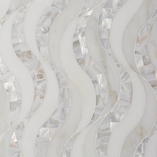 pearl waterjet marble mosaic