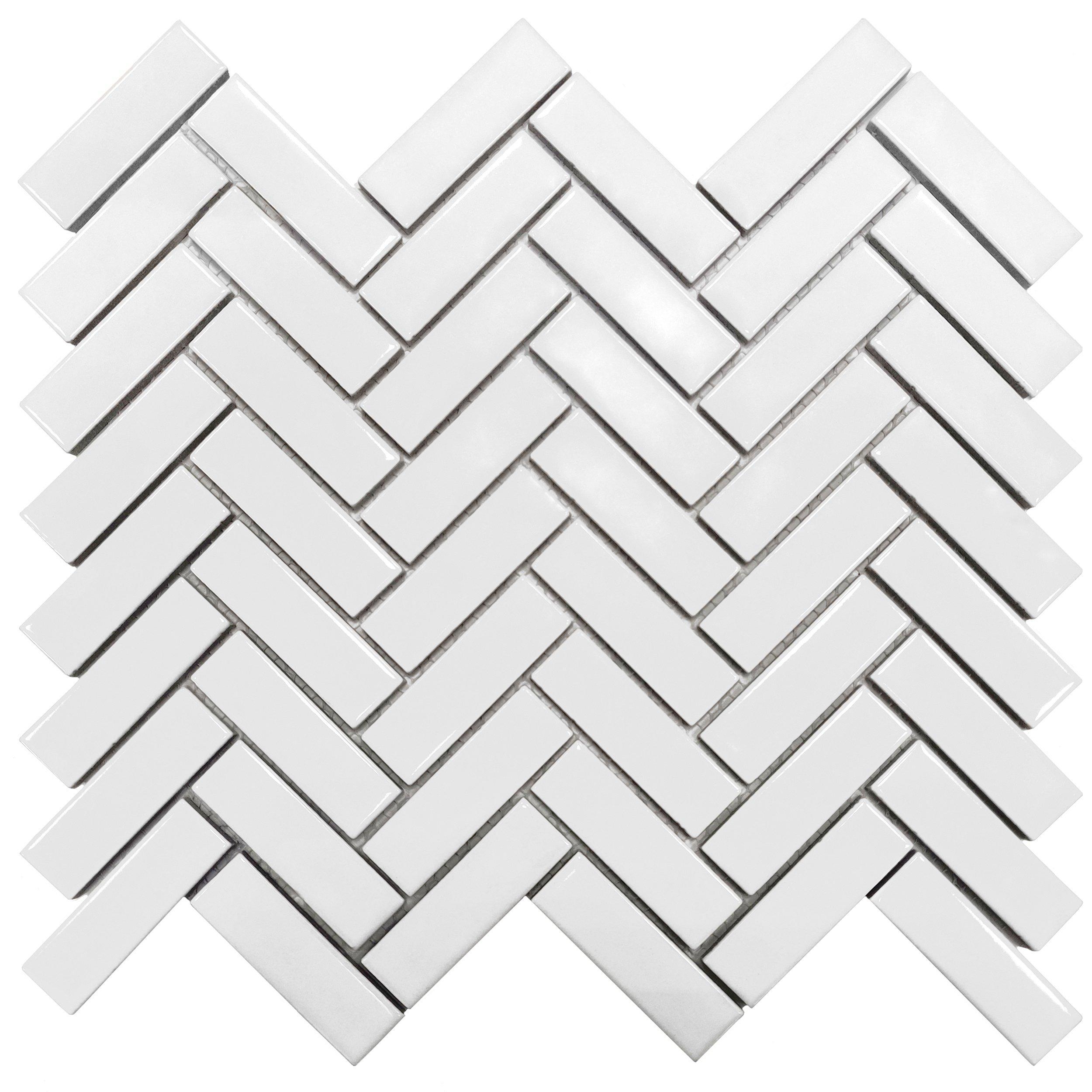 matte black herringbone porcelain tile