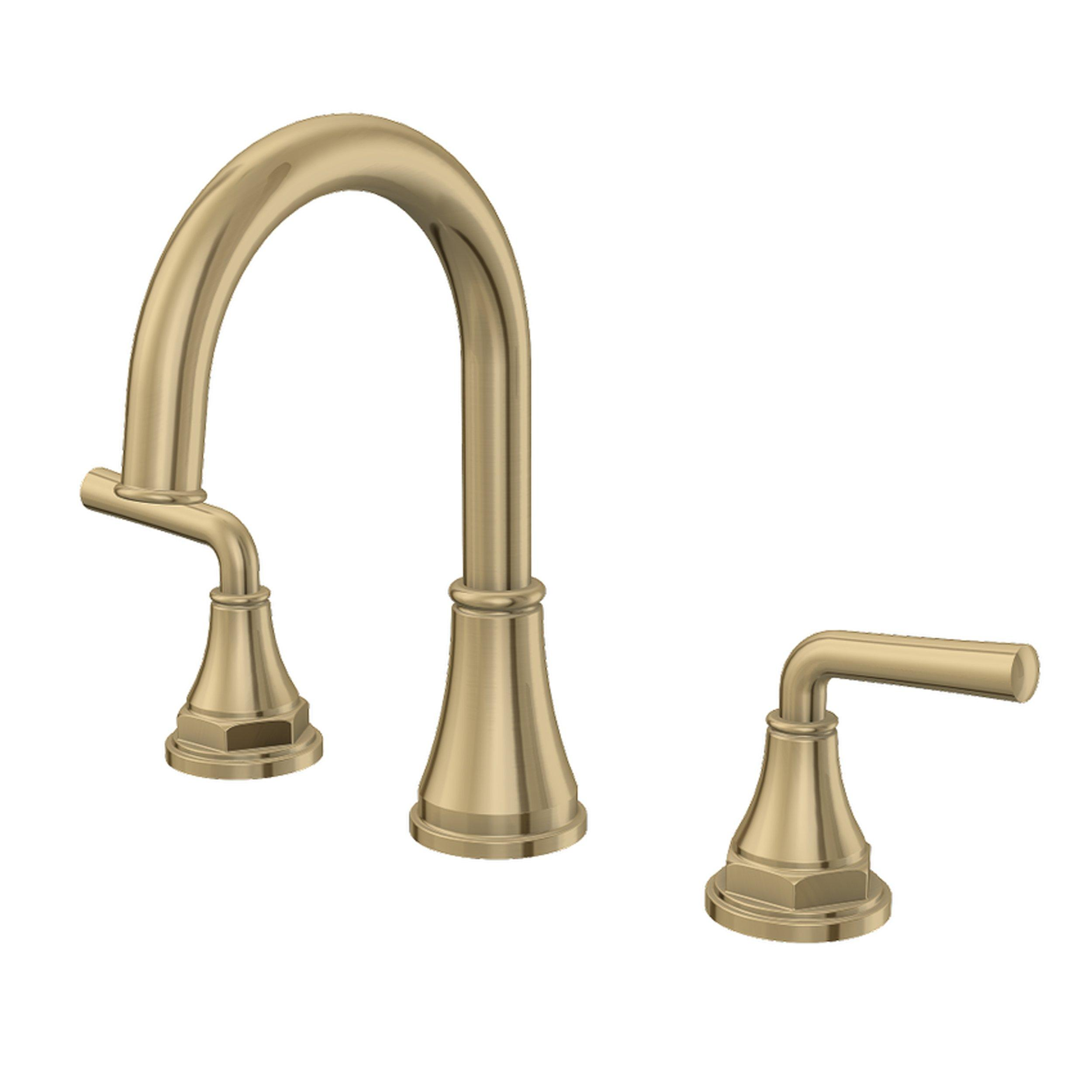 tano 8 in widespread brushed gold faucet