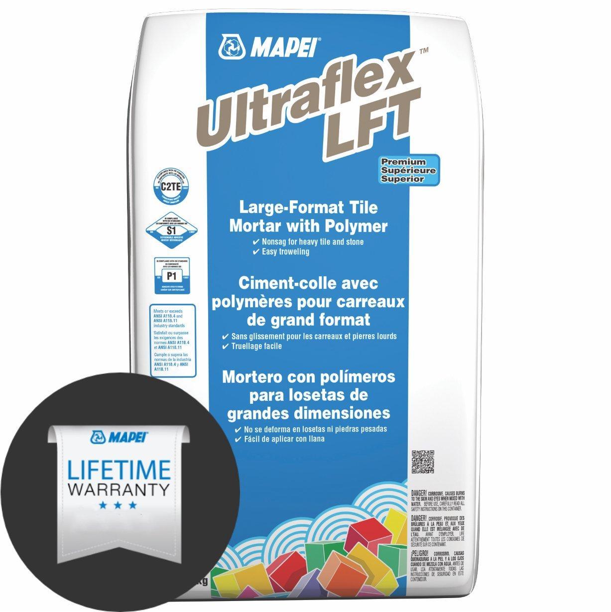mapei ultraflex lft gray large format tile mortar