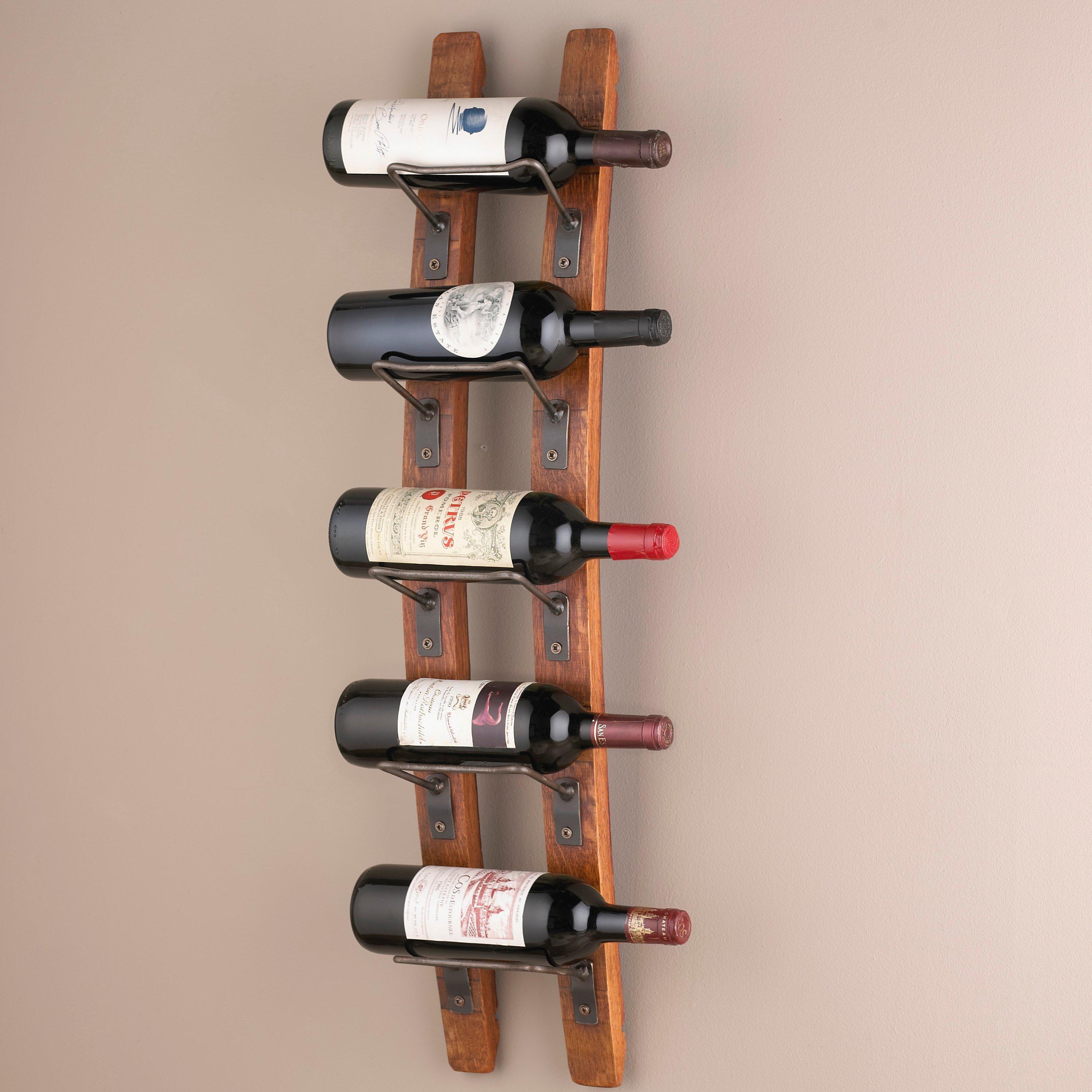 barrel stave wall wine rack