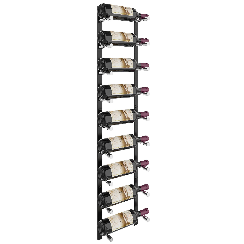 vintageview vino pins flex wall mounted metal wine rack system 9 bottles