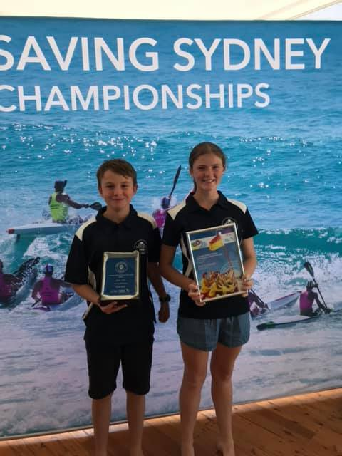Tom and Zoe - winner and finalist for Junior Lifesaver of the Year