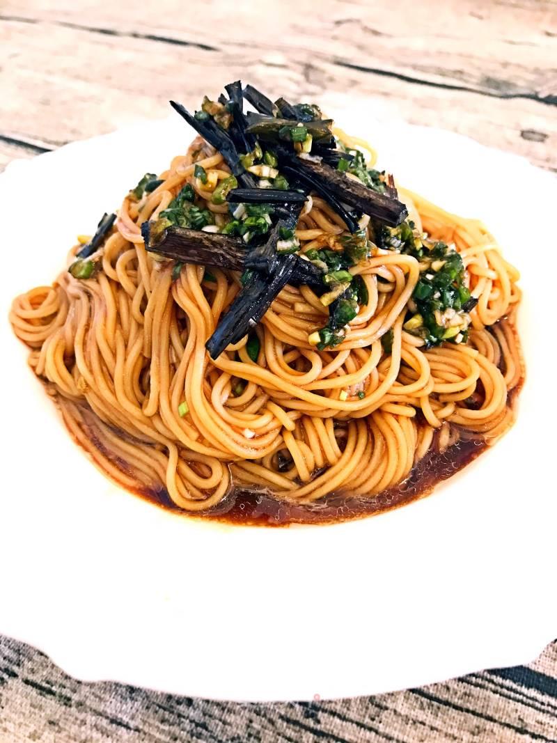 蔥油拌面的做法_菜譜_美食天下