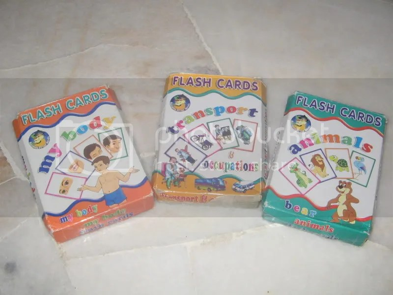 Pelbagai jensi flashcard yang boleh digunakan