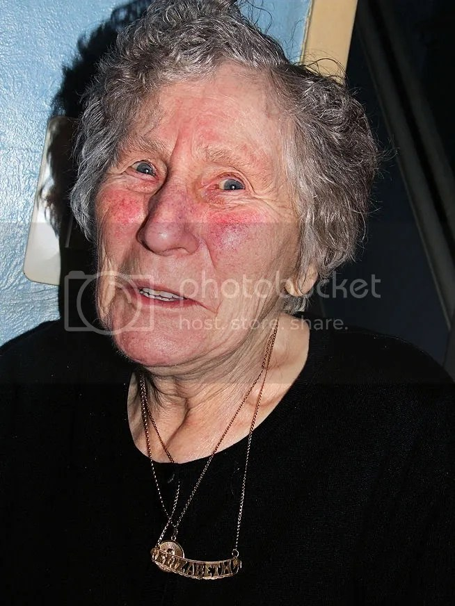 """My granny, in her pimping """"Elizabeth"""" necklace"""