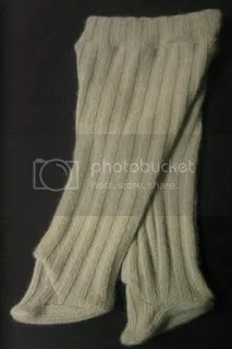 Recycled wool footed longies