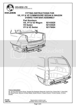 Ve Commodore Tow Bar Wiring Diagram  Somurich