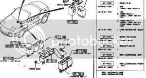 Mazda Miata Headlight Relay Location On Na  wiring