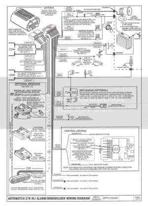 Wiring daigram for a autowatch 276 RLi security sys  The