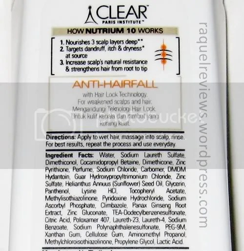 Clear Women Anti Hair-Fall