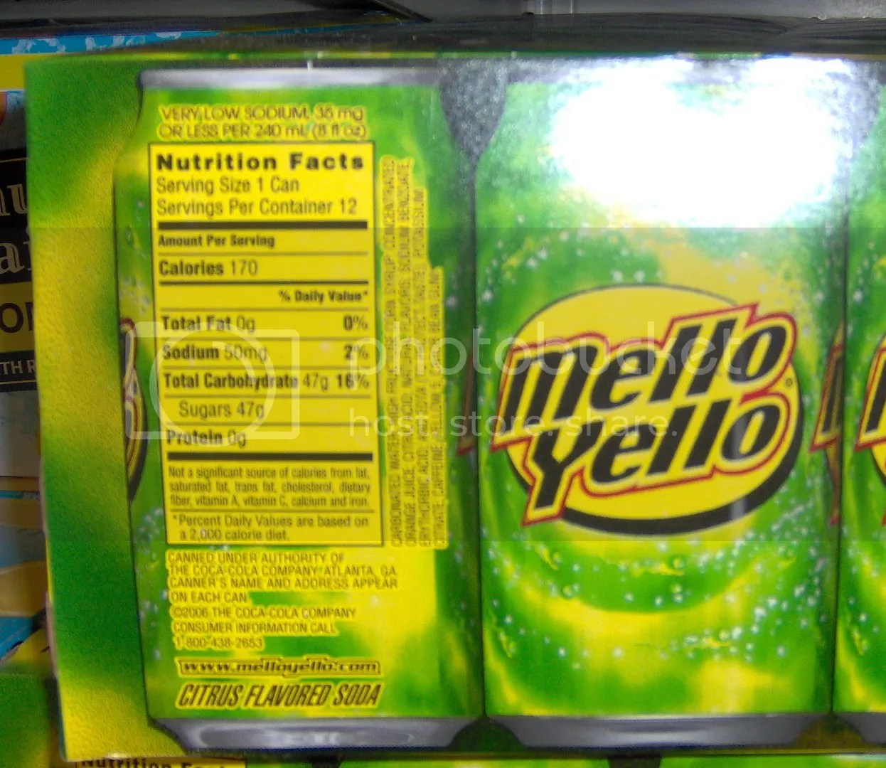 Mello Yello soda pic