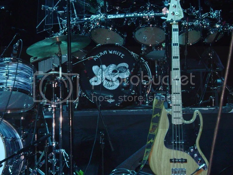 photo 02 - Yes - Houston_TX - Pre-show Stage_Alan White_Drums and Chris Squire_05 Aug 2014 - bass - photo by Gary Brown_zpsm0gilphk.jpg