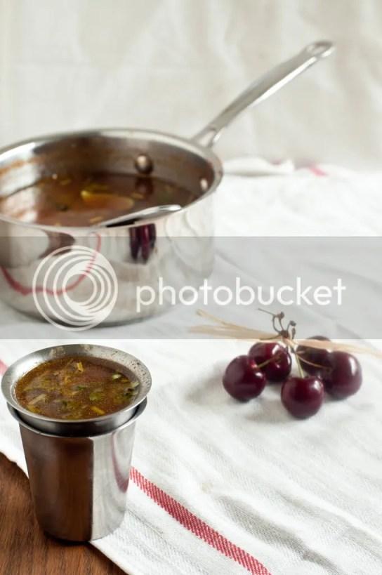 Cherry Rasam as a soup