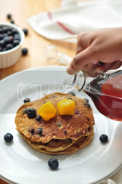 Blueberry Buckwheat pancake