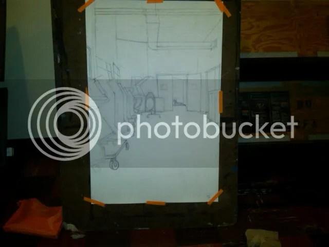 Interior w/figure