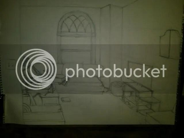 Interior w/figures