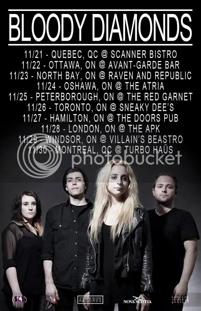 Bloody Diamonds November 2013 Tour Poster