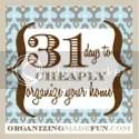 31DaysToCheaplyOrganizeYourHome