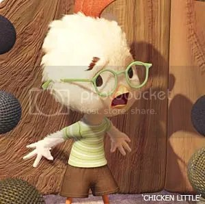 Chicken Little press conference.